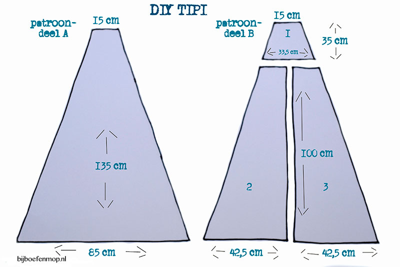 New DIY tipi tent — bij boef+mop &XP75